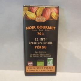 CHOCOLAT NOIR 70% CACAO 100G